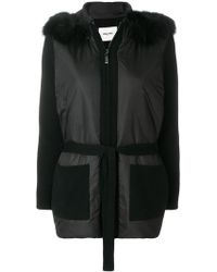Max & Moi - Belted Fur-hooded Jacket - Lyst