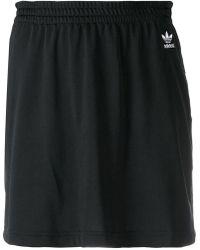 adidas - Short Logo Skirt - Lyst