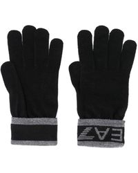 EA7 - Gestrickte Handschuhe mit Logo - Lyst