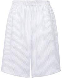 MM6 by Maison Martin Margiela - Pinstripe Knee-length Shorts - Lyst