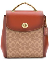 a4002c1d7 COACH Campus Backpack in Red - Lyst