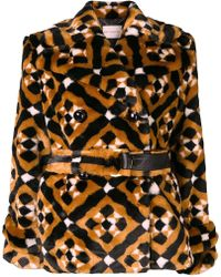 Mary Katrantzou - Oates Geometric Pattern Coat - Lyst