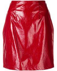 FEDERICA TOSI - Vinyl Pencil Mini Skirt - Lyst