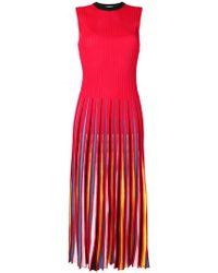MSGM - Vestido con pliegues - Lyst