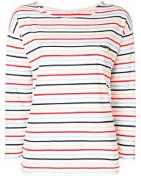 Chinti & Parker - Striped 3/4 Sleeve T-shirt - Lyst