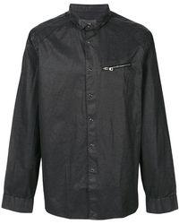 John Varvatos - Zip-detail Fitted Shirt - Lyst