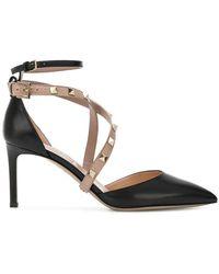Valentino - Garavani Studwrap Court Shoes - Lyst