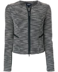 Armani Jeans - Fitted Jacket - Lyst
