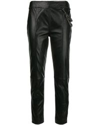 Boutique Moschino - Lambskin Trousers - Lyst