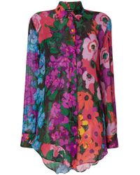 Twin Set - Long-sleeve Floral Blouse - Lyst