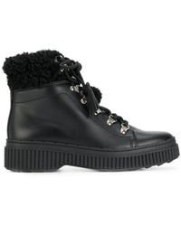 Tod's - Shearling-trimmed Ankle Boots - Lyst