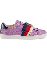 Gucci - Ace Lace Sneakers - Lyst