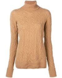 Drumohr - Cable Knit Turtle Neck Jumper - Lyst