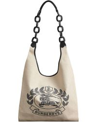 Burberry - Medium Archive Logo Canvas And Leather Shopper - Lyst