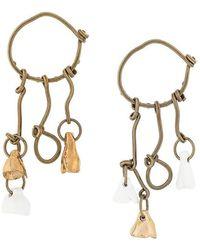 Marni - Hoop Ceramic Drop Earrings - Lyst