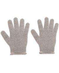 Fabiana Filippi - Lamé Fine Knit Gloves - Lyst