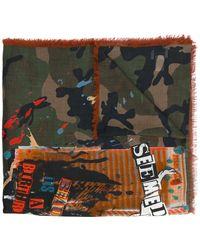 Valentino | Garavani Thin Camouflage Print Scarf | Lyst