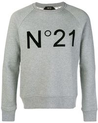 N°21 - Logo Print Sweater - Lyst