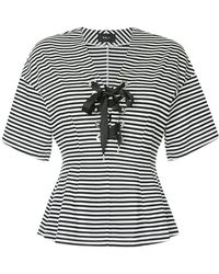 G.v.g.v - Striped Lace Up Top - Lyst