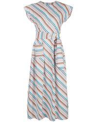 Isa Arfen - Long Striped Dress - Lyst