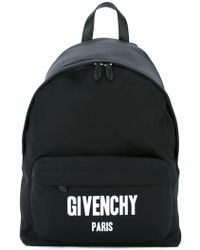 Givenchy - Logo Print Backpack - Lyst