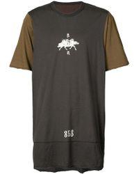 Ziggy Chen - Oversized Print T-shirt - Lyst