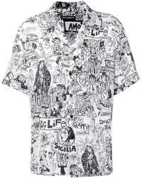 Dolce & Gabbana - Printed Short-sleeved Shirt - Lyst