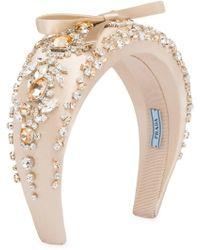 Prada - Crystal Embellished Headband - Lyst