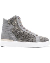 Philipp Plein - Crystal Embellished Sneakers - Lyst