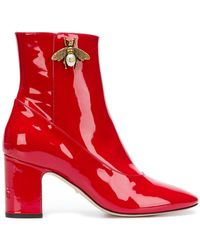 Gucci - Bee Ankle Boots - Lyst