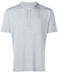 Eleventy - Buttoned Crew Neck T-shirt - Lyst