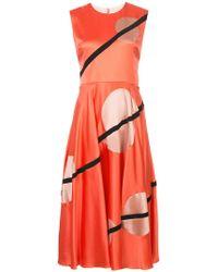 ROKSANDA - Geometric-print Midi Dress - Lyst