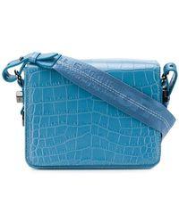 56d91912d2528 Off-White C O Virgil Abloh Industrial Velvet Shoulder Bag in Red - Lyst