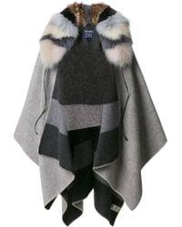 Woolrich - Reversible Blanket Cape - Lyst