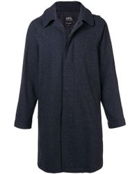 A.P.C. - Single-breasted Fitted Coat - Lyst