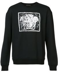 Versace | Contrast Medusa Print Sweatshirt | Lyst