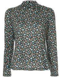 Rebecca Taylor - Fitted Floral Print Jersey - Lyst