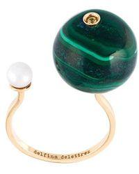 Delfina Delettrez - 'stone-edge Piercing' Sapphire Ring - Lyst