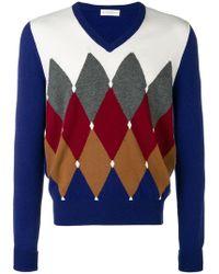 Ballantyne - Diamond Instarsia Sweater - Lyst