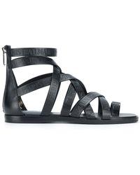 Balmain | Crossover Strap Sandals | Lyst