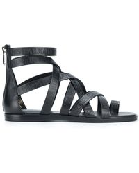 Balmain - Crossover Strap Sandals - Lyst