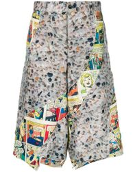 Comme des Garçons - Panelled Printed Bermuda Shorts - Lyst