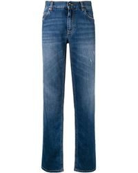 Dolce & Gabbana - Logo Embroidered Straight Leg Jeans - Lyst
