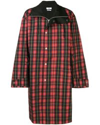 Cmmn Swdn - Button Check Coat - Lyst