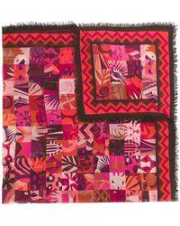 Ferragamo - Scialle Patchwork Print Square Scarf - Lyst