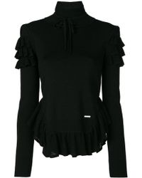 DSquared² - Frill Turtleneck Top - Lyst