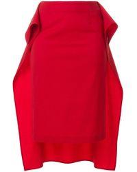 MM6 by Maison Martin Margiela   Draped Hi-low Hem Skirt   Lyst