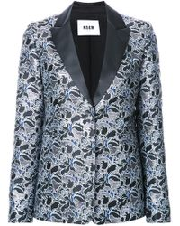 MSGM - Metallic Floral Jacquard Dinner Jacket - Lyst