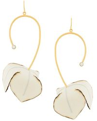 Marni - Floral Drop Miss-matched Earrings - Lyst