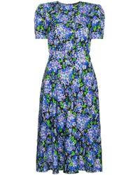 Vika Gazinskaya - Shortsleeved Midi Floral Dress - Lyst